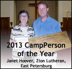 2012 CampPerson of the Year:  Michelle Shirk